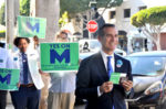 Garcetti visits Larchmont Village to promote 'M'