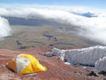 Pair brave weather on climb of Ecuadorian glacier Cotopaxi