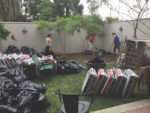 Wilshire Library plants garden, with help from friends and graduate