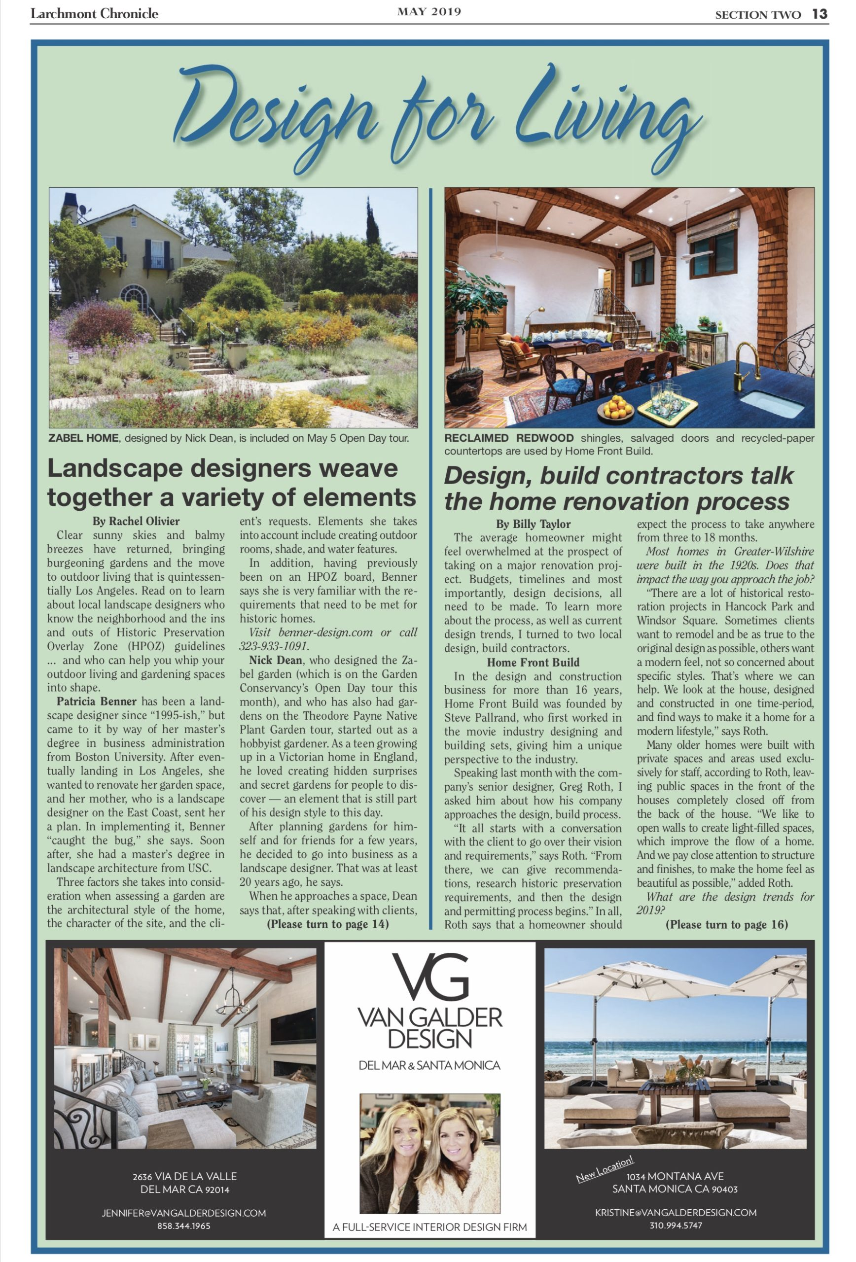 Click below to read the 2019 Design for Living