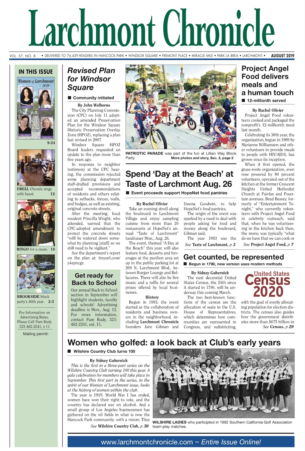Larchmont Chronicle August 2019 full issue