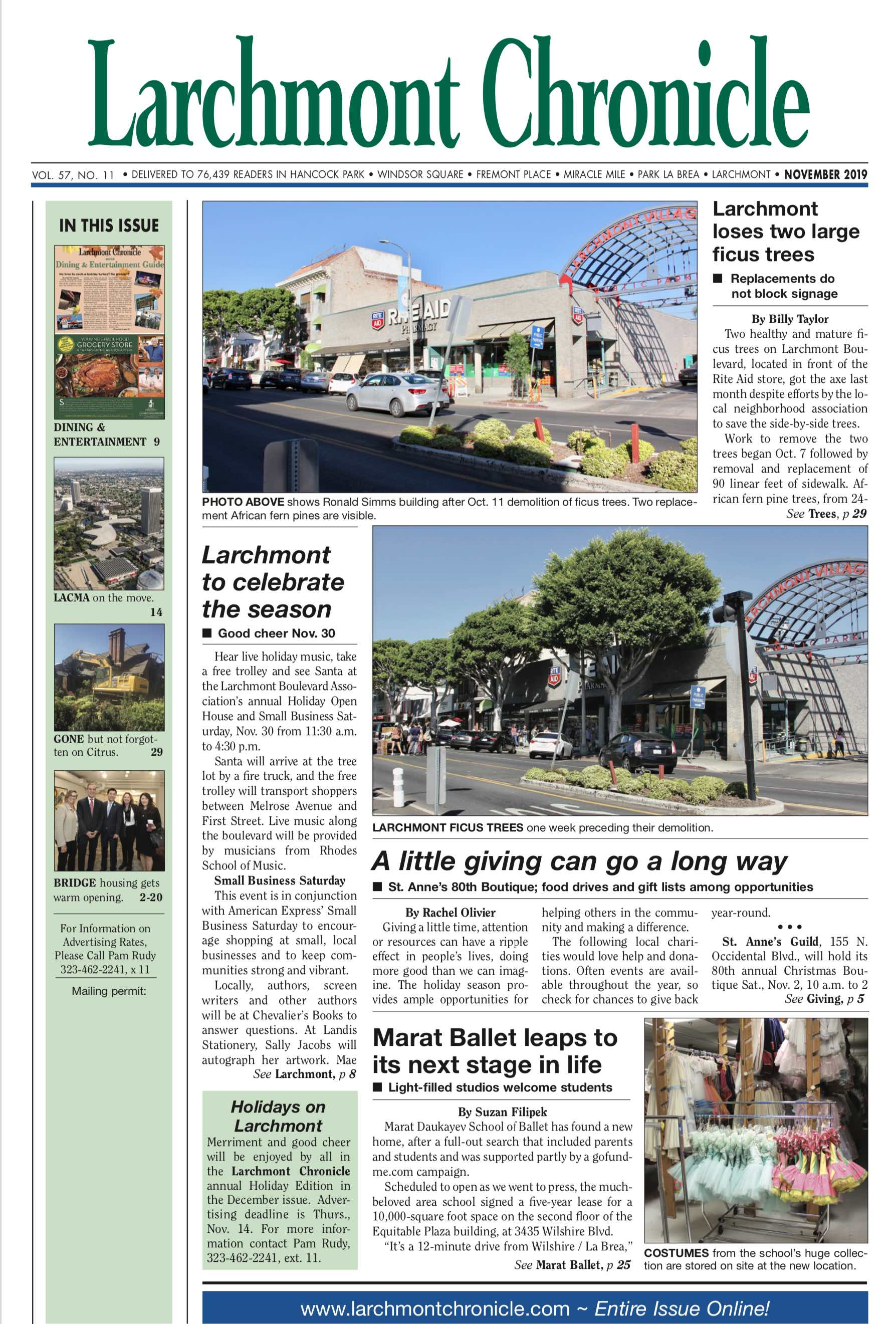 Larchmont Chronicle November 2019 full issue