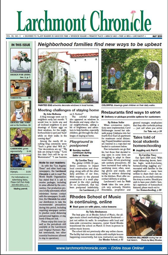 Larchmont Chronicle May 2020 full issue