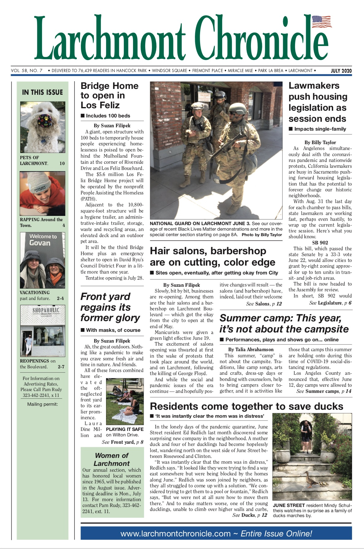 Larchmont Chronicle July 2020 full issue