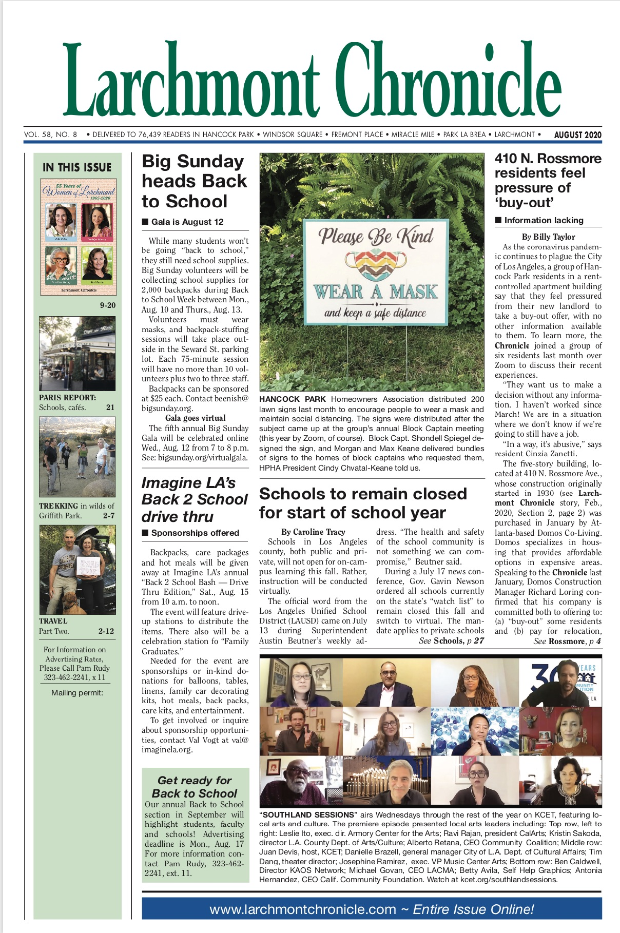 Larchmont Chronicle August 2020 full issue