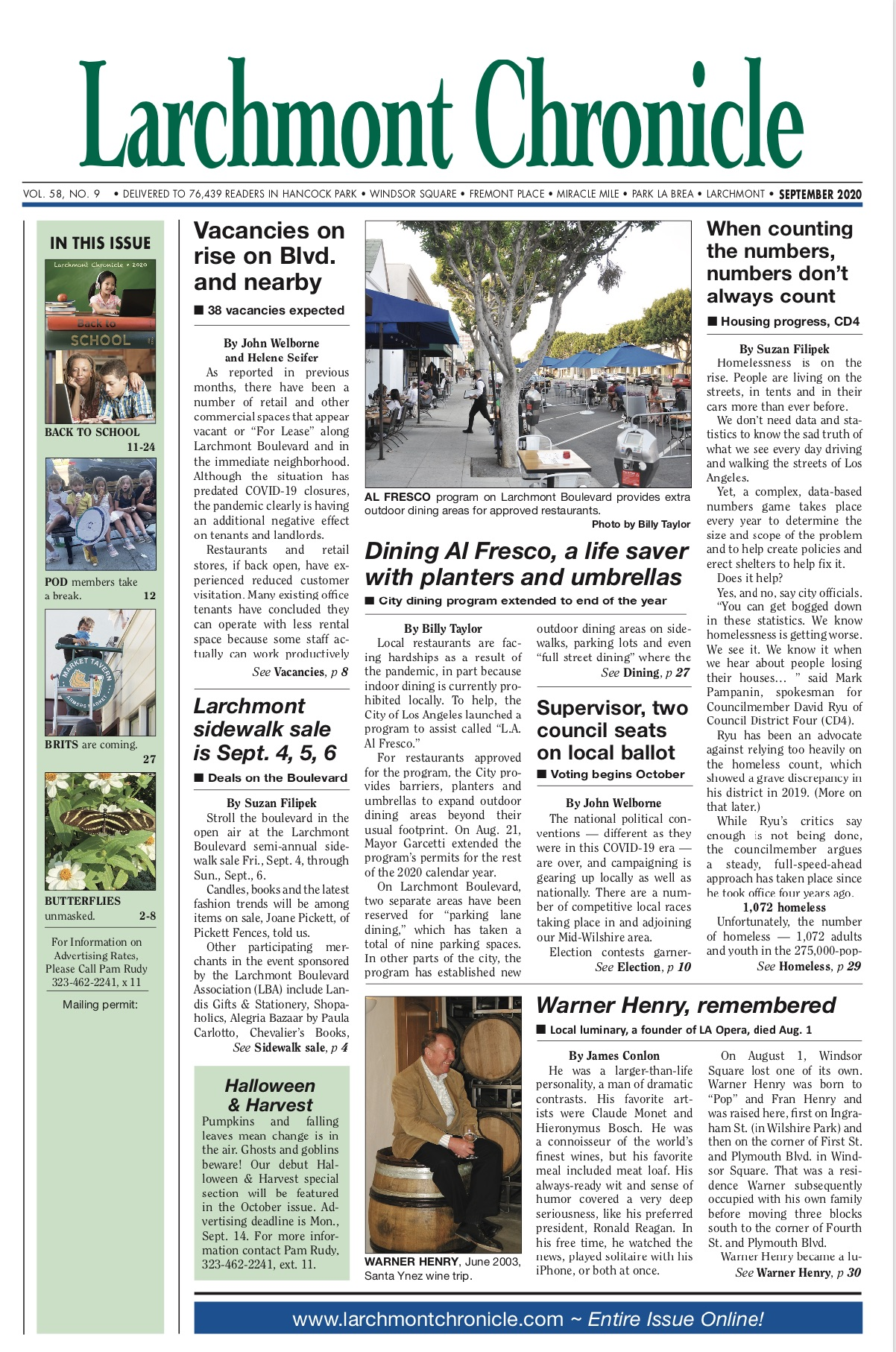 Larchmont Chronicle September 2020 full issue