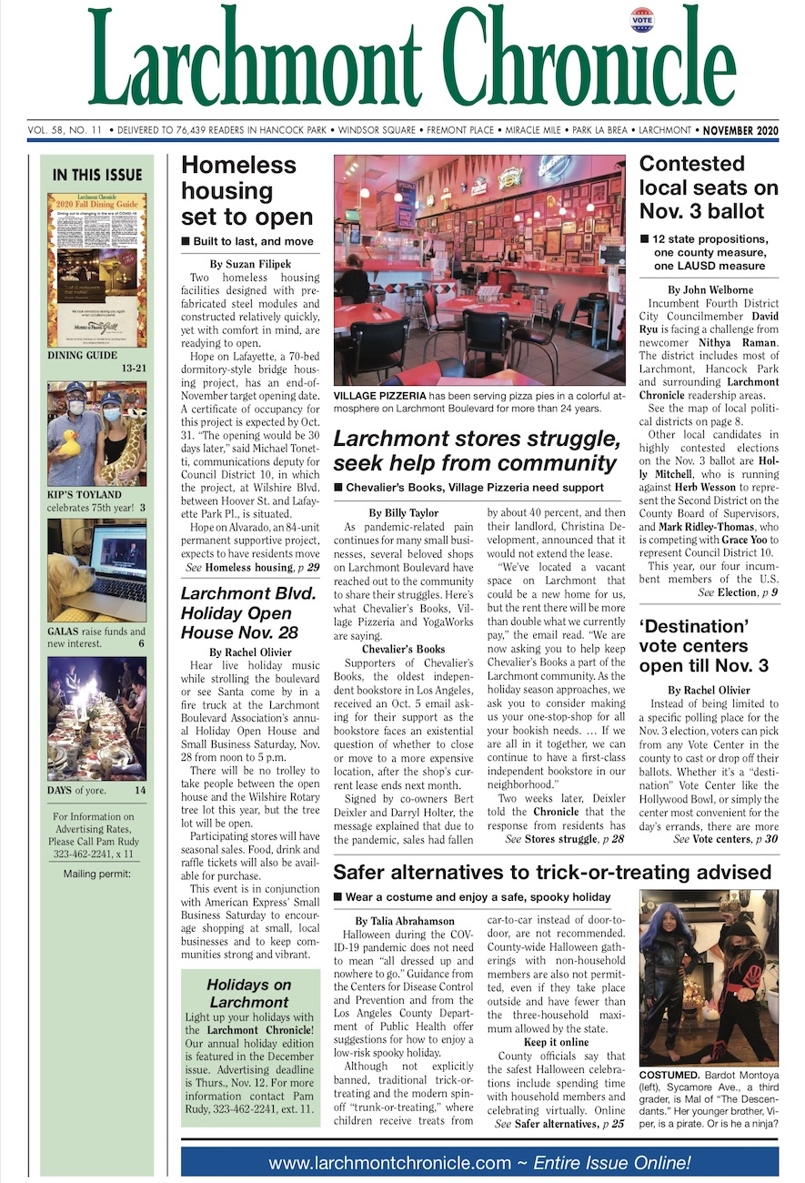 Larchmont Chronicle November 2020 full issue