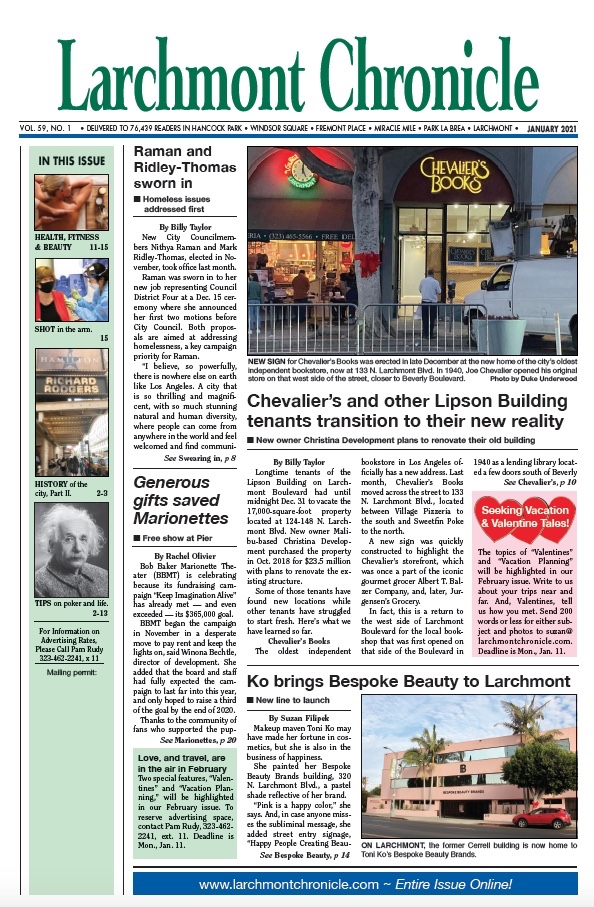 Larchmont Chronicle January 2021 full issue