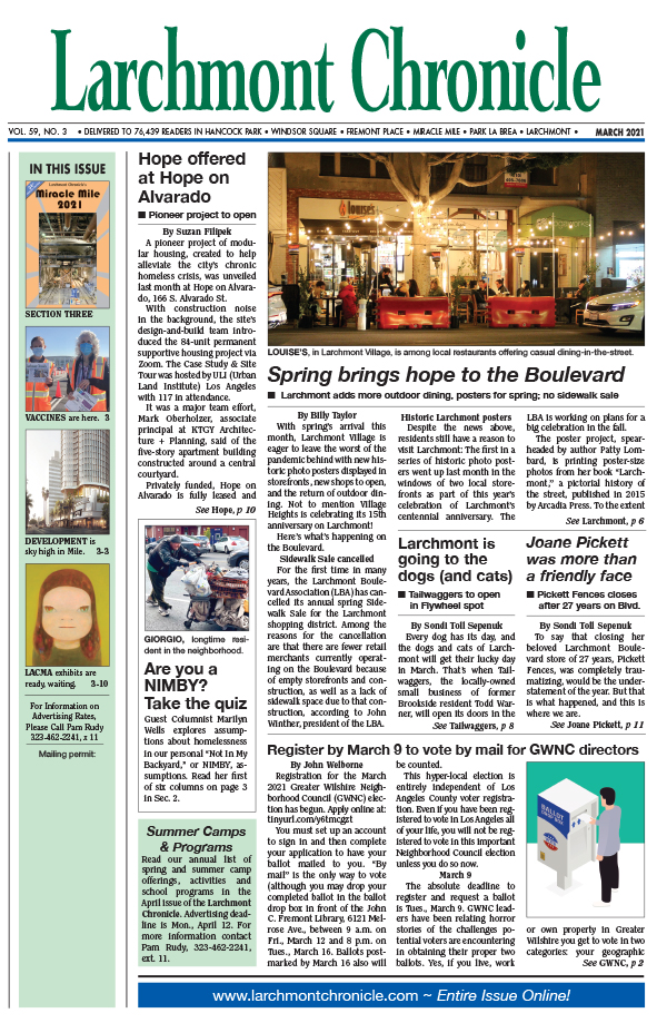 Larchmont Chronicle March 2021 full issue