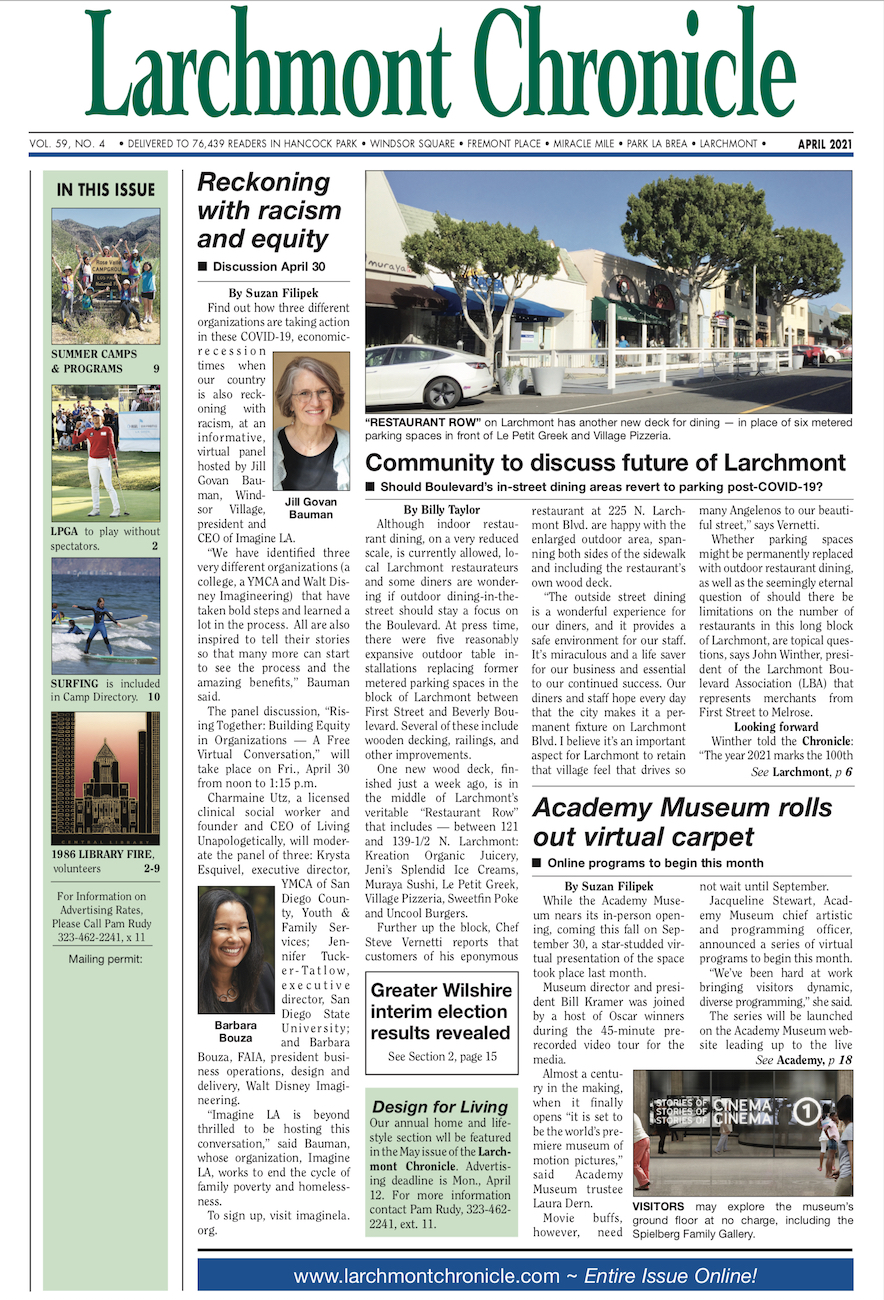 Larchmont Chronicle April 2021 full issue