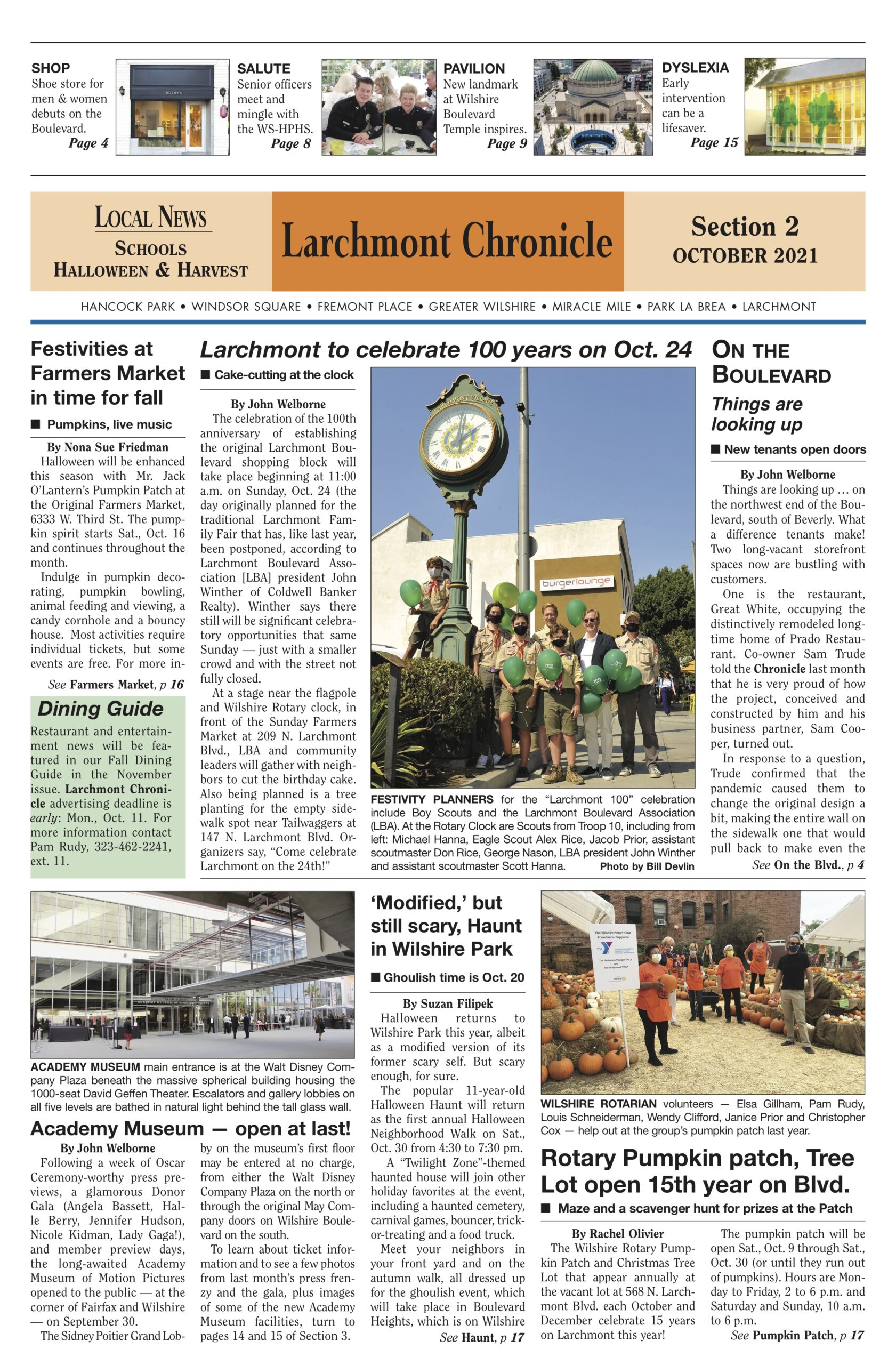 Click here to read news for the October 2021 issue