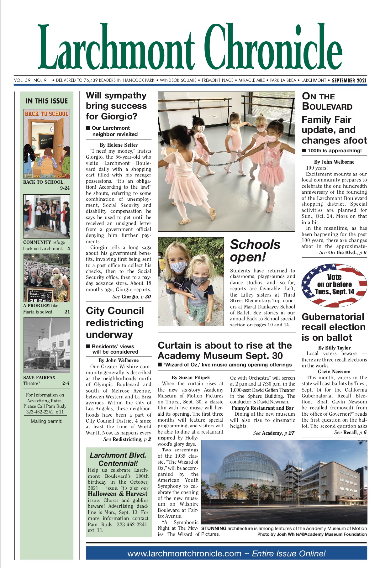 Larchmont Chronicle September 2021 full issue